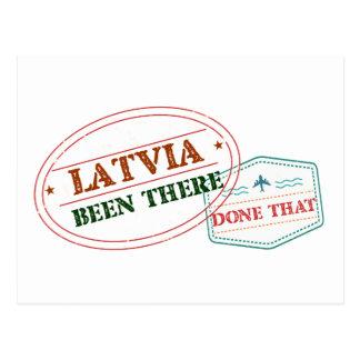 Cartão Postal Latvia feito lá isso