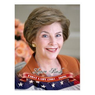 Cartão Postal Laura Bush, primeira senhora dos E.U.