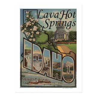 Cartão Postal Lava Hot Springs, Idaho - grandes cenas da letra