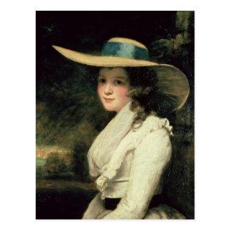 Cartão Postal Lavinia Bingham, ò condessa Spencer 1785-6