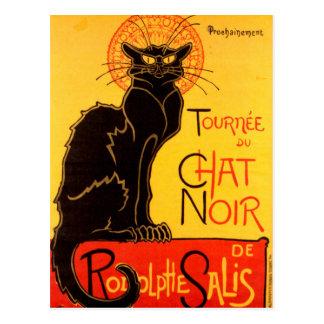 Cartão Postal Le Conversa Noir o vintage de Nouveau da arte do