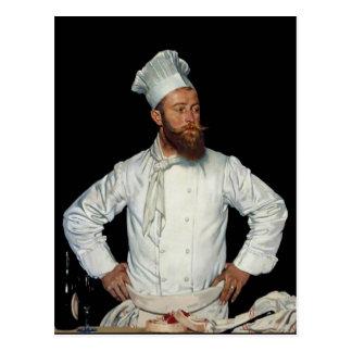 Cartão Postal Le Cozinheiro chefe por Orpen