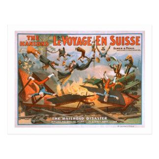 Cartão Postal Le viagem en Suisse - o desastre da estrada de