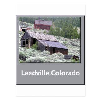 Cartão Postal Leadville, cidade fantasma de Colorado