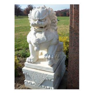 Cartão Postal Leão chinês