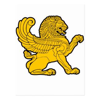 Cartão Postal leão persa