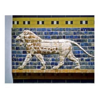 Cartão Postal Leão persa - tijolo vitrificado, Istambul