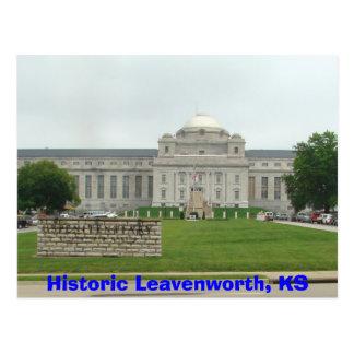 Cartão Postal Leavenworth histórico, prisão de KS-