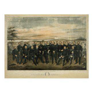 Cartão Postal Lee e seu general por Americus Patterson (1904)