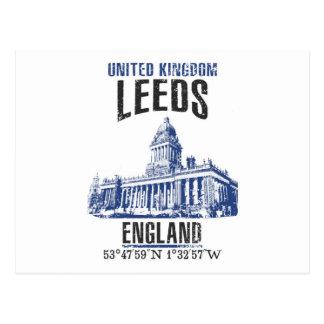 Cartão Postal Leeds