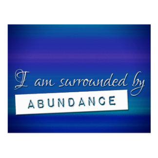 Cartão Postal Lei azul da afirmação da abundância da atração