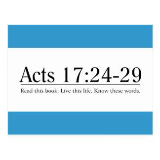 Cartão Postal Leia o 17:24 dos atos da bíblia - 29