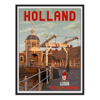 Cartão Postal Leiden - Morspoortbrug