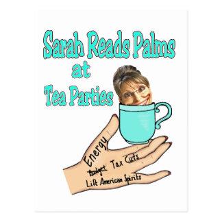 Cartão Postal leitor de palma sarah