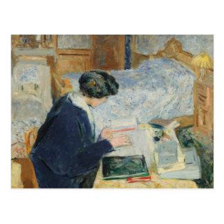 Cartão Postal Leitura ao lado de sua cama
