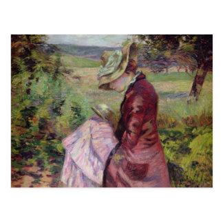 Cartão Postal Leitura da senhora Guillaumin, c.1887