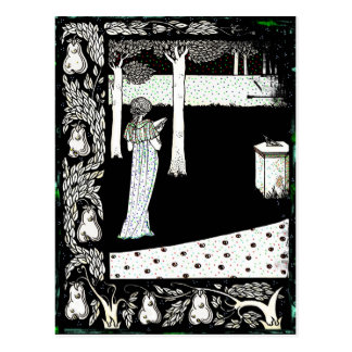 Cartão Postal Leitura de Beale Isolde do La no jardim
