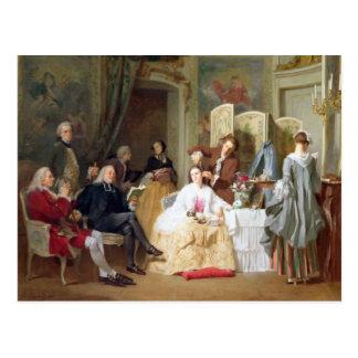 """Cartão Postal Leitura """"Manon Lescaut"""" de Prevost do Abbe, 1856"""