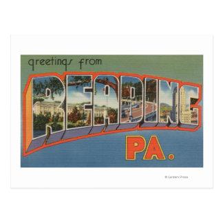 Cartão Postal Leitura, Pensilvânia - grandes cenas da letra