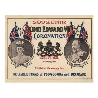 Cartão Postal Lembrança da coroação de Edward VII