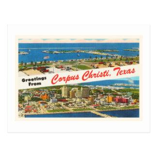 Cartão Postal Lembrança das viagens vintage de Corpus Christi