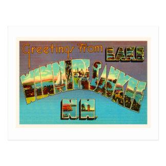 Cartão Postal Lembrança do viagem de Winnipesaukee New Hampshire