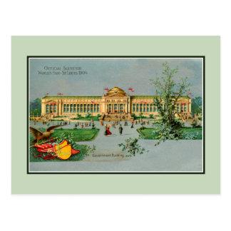 Cartão Postal Lembrança St Louis do oficial do vintage 1904