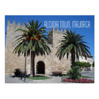 Cartão Postal Lembrança velha da espanha de Majorca Mallorca da