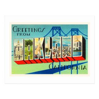 Cartão Postal Lembrança velha das viagens vintage de Oakland
