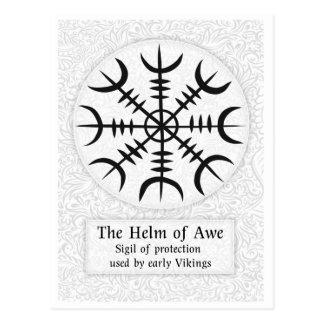 Cartão Postal Leme do sinal mágico islandês do incrédulo -