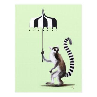 Cartão Postal Lemur atado anel