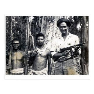 Cartão Postal Lenhador de protecção de Nova Guiné
