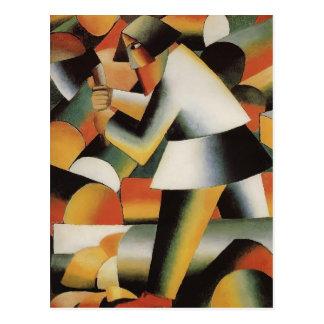 Cartão Postal Lenhador por Kazimir Malevich