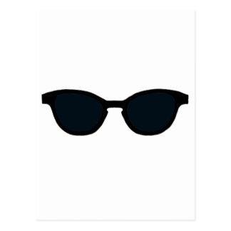 Cartão Postal Lente preta do preto da borda dos óculos de sol o