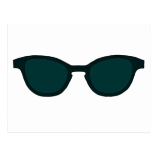 Cartão Postal Lente verde da DK da borda preta dos óculos de sol