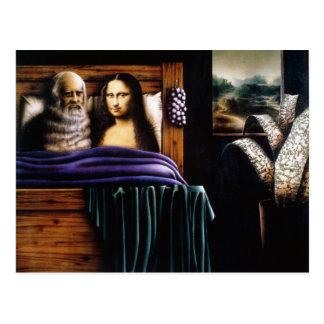 Cartão Postal Leo e Mona