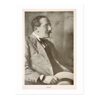 Cartão Postal Leon Bakst (1866-1924), pintor do russo, retrato