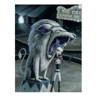 Cartão Postal Leona o mais doméstico de leão