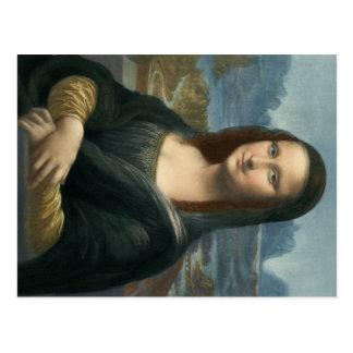 Cartão Postal Leonarde da Vinci Mona Lisa