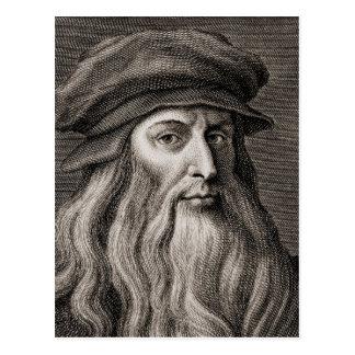 Cartão Postal Leonardo da Vinci