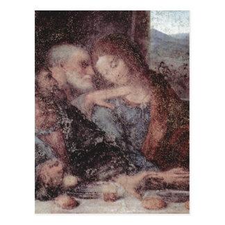 Cartão Postal Leonardo da Vinci DAS Abendmahl, detalhe 1495-1497