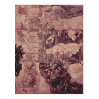 Cartão Postal Leonardo da Vinci morre hl do der de Anbetung.