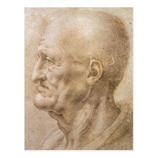 Cartão Postal Leonardo desconhecido d do autor da data da