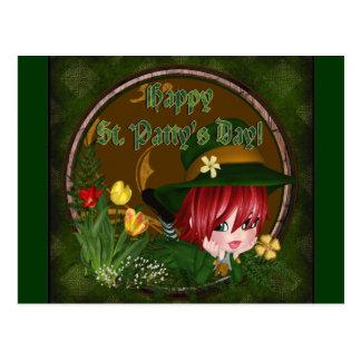 Cartão Postal Leprechaun do dia de St Patrick