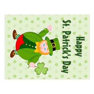 Cartão Postal Leprechaun do dia de um St Patrick que guardara um