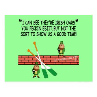 Cartão Postal Leprechauns irlandeses engraçados