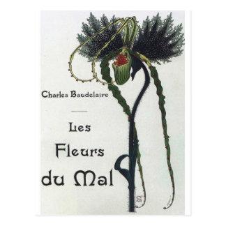 Cartão Postal Les Fleur du Mal - Baudelaire