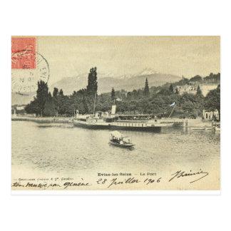 Cartão Postal Les franceses Bains de France, Evian do vintage,