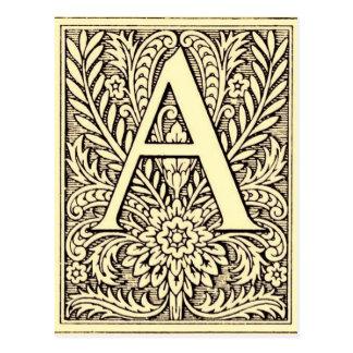 Cartão Postal Letra A do alfabeto
