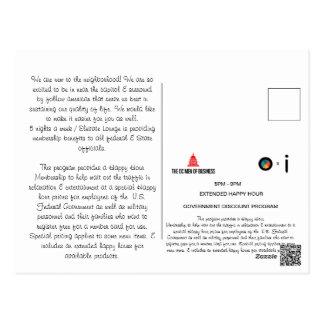 Cartão Postal Letra bem-vinda